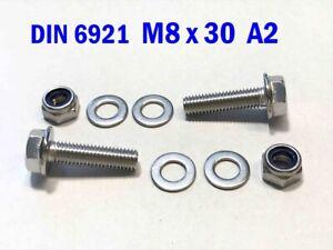 Mutter M8 A2 Schraube mit Bund M8x25 Edelstahl A2 5 St