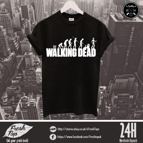 Fear The Walking Dead T Shirt Tee Logo Daryl Dixon Crossbow Rick Glenn Maggie