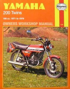 Haynes-Manual-0156-Yamaha-RD200-73-76-RD200DX-74-78-YCS-3E-YCS-5E