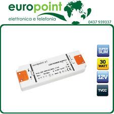 Alimentatore per strisce LED 12V 30W ultrasottile piatto in materiale ignifugo