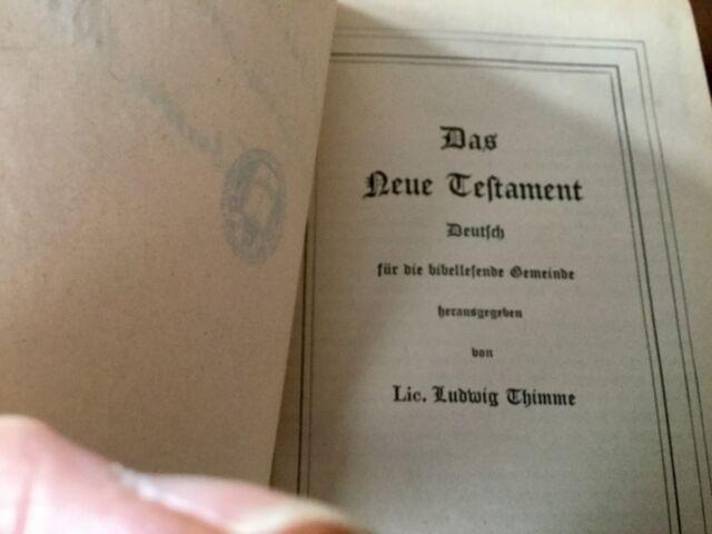 Das Neue Testament, German Bible 1945, very nice condition inscribed 1969