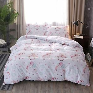 3D-Lovely-Unicorn-Kids-Duvet-Cover-Bedding-Set-Pillowcase-Quilt-Comforter-Cover