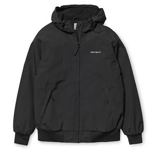 Carhartt-Hooded-Sail-Jacket-Teflon-Jacke-Black-I022721-Kapuze-Neu