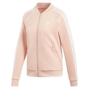 Détails sur Adidas Originaux Sst Veste de Survêtement Superstar Rose FEMMES  Rétro Bomber