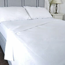 Luxury Pure 100%25 Cotton Flat Bed Sheet Hospital Quality %7c Single