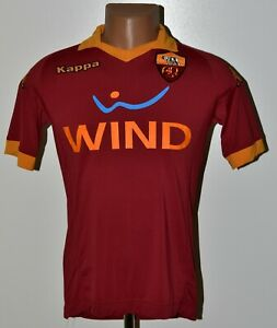 AS-ROMA-ITALY-2012-2013-HOME-FOOTBALL-SHIRT-JERSEY-KAPPA-SIZE-S-ADULT