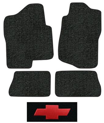 1988-1998 Chevrolet C1500 Cutpile Carpet Logo Floor Mat 2pc