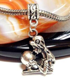 FORTUNE TELLER/_Bead Fits European Charm Bracelet/_Psychic Tarot Halloween/_J20