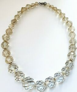 Vintage-1950s-14-5-034-Czech-Faceted-Glass-Necklace