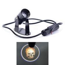 3D Universal Ghost Rider Flaming Skull Logo Motorcycle Projector LED Light ES