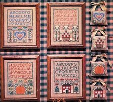 Needle and I SAMPLERS Seasonal Accents 4 Cross Stitch Charts/OOP Leaflet