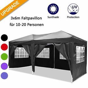 Gartenpavillon Partyzelt Gartenzelt Faltpavillon Pavillon Zelt faltbar 3x6m Neu