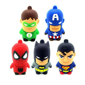 Cartoon-Superman-Series-Memoria-USB-2-0-Flash-Stick-Pen-Drive-U-Disk-4GB-8GB-16G