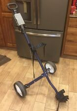 Blue Spalding Push Pull Golf Cart Caddie Lightweight Used