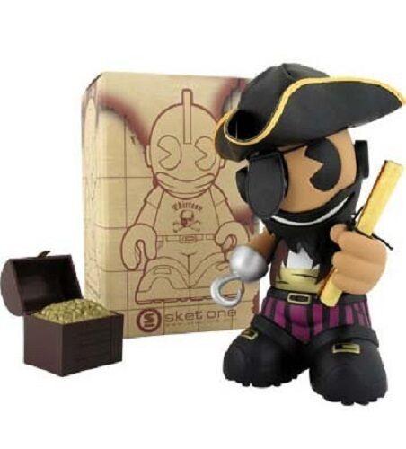 Kidrobot figura 7  Mascota 13 Sket-uno el Pirata negrobeard Sellado-Juguete De Vinilo