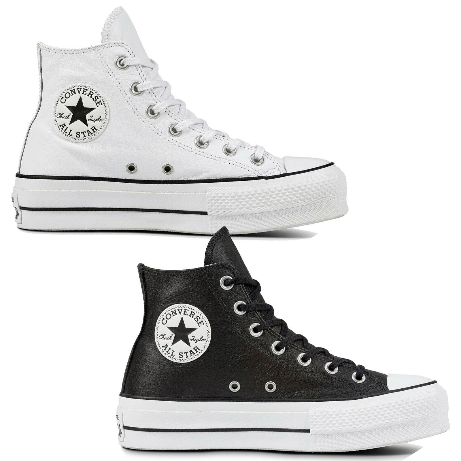 Converse Chuck Taylor all Star Lift Clean Hi Women's shoes Leather Platform