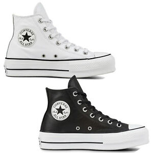 051442202f4 Converse Chuck Taylor all Star Lift Clean Hi Women s Shoes Leather ...