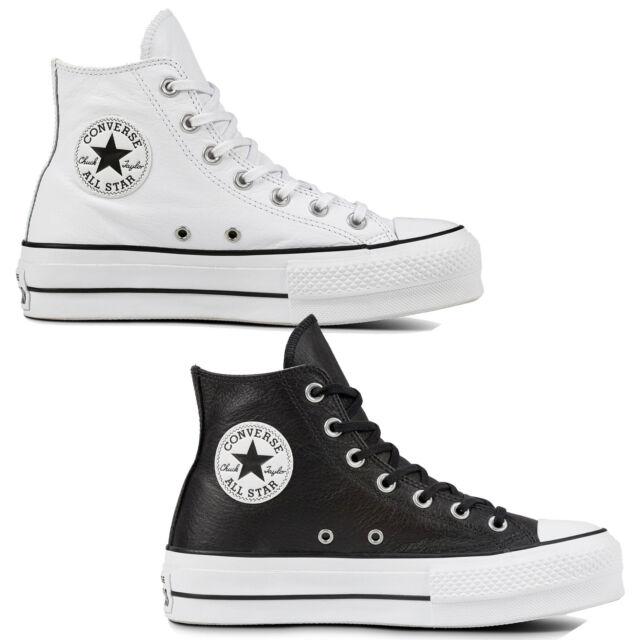 Converse Chuck Taylor All Star Lift Clean Hi Damen Schuhe Sneaker Leder Plateau