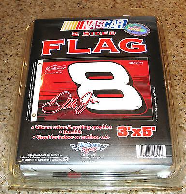 DALE JR #8 BUDWEISER NASCAR 3' x 5' FLAG 2-SIDED BRASS GROMMETS