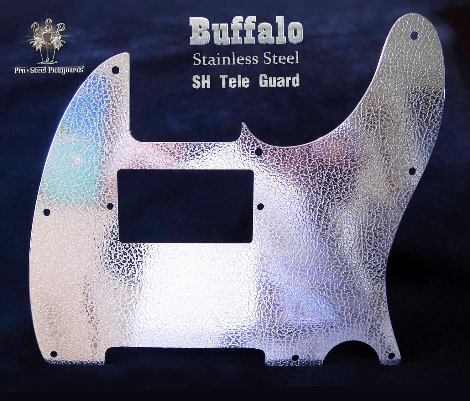 TELE S H METAL CHROME BLING Genuine Pro-Steel Pickguard, Fender Telecaster Guard