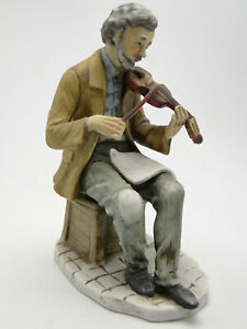 Old-Napco-Porcellane-D-039-Arte-Violinist-Figure-C8624-7-1-2in-hand-painted-china