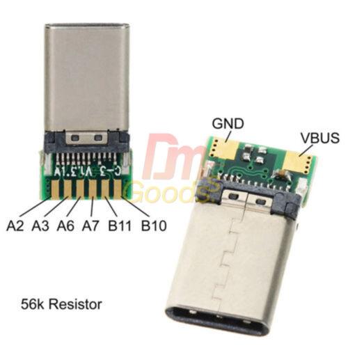 USB 3.1 USB-C Type C 24Pin Female Male Plug Socket Connector SMT Type PC Board