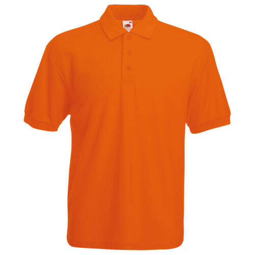 FRUIT OF THE LOOM 65//35 Polo-MEN /'S Manica Corta Smart//Casual Top S-5XL