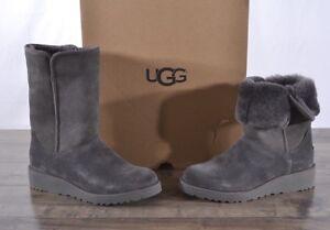 UGG Australia Women s Amie Classic Slim Suede Sheepskin Boots 6 MED ... a4b6b1d860