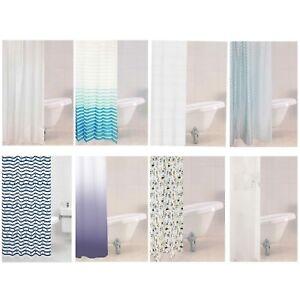 Rideaux-De-Douche-amp-Crochets-divers-180-x-180-cm-Rayures-Pois-Sparkle-Premium-NEUF