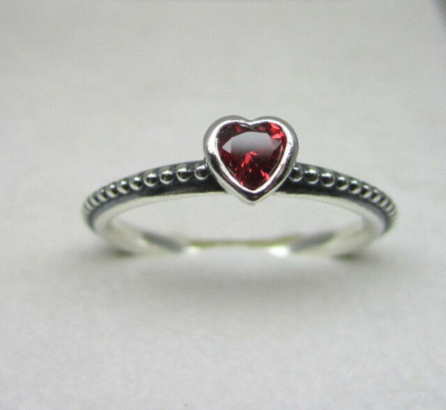 Authentic Pandora #190896SGR-54 One Love Ring Red Size 7