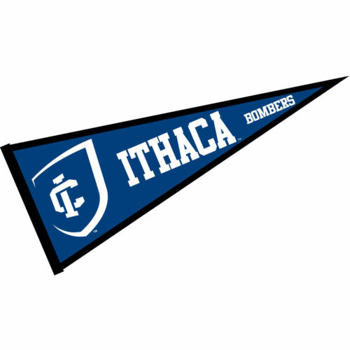 """Ithaca College Bombers 12/"""" X 30/"""" College Pennant"""