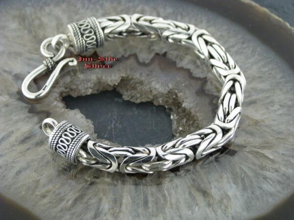 Hell Königskette Armband Das Original Stärke 8mm Silber 925 Silberarmband Balichain Halten Sie Die Ganze Zeit Fit