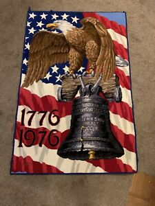 VTG Graphic Eagle Declaration Of Independence Bicentennial Paper Place Mat