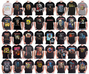 Official-Iron-Maiden-T-shirt-book-of-souls-trooper-killers-tour-band-logo-mens