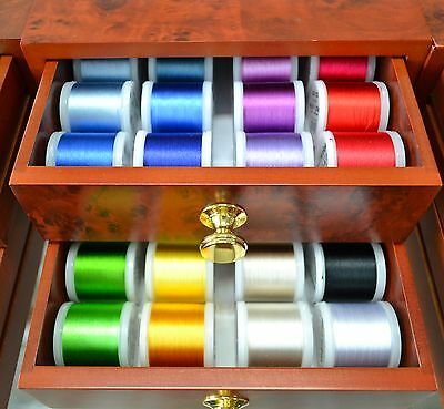 Madeira Mini Treasure Chest Rayons Embroidery Threads 200m x 48 Spools in Stylis