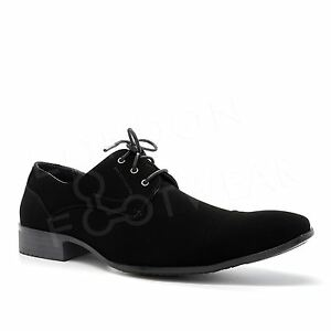a36352e667e12 Details about New Mens Office Lace Up Derby Shoes Faux Suede Smart Work  Dress Formal Casual UK