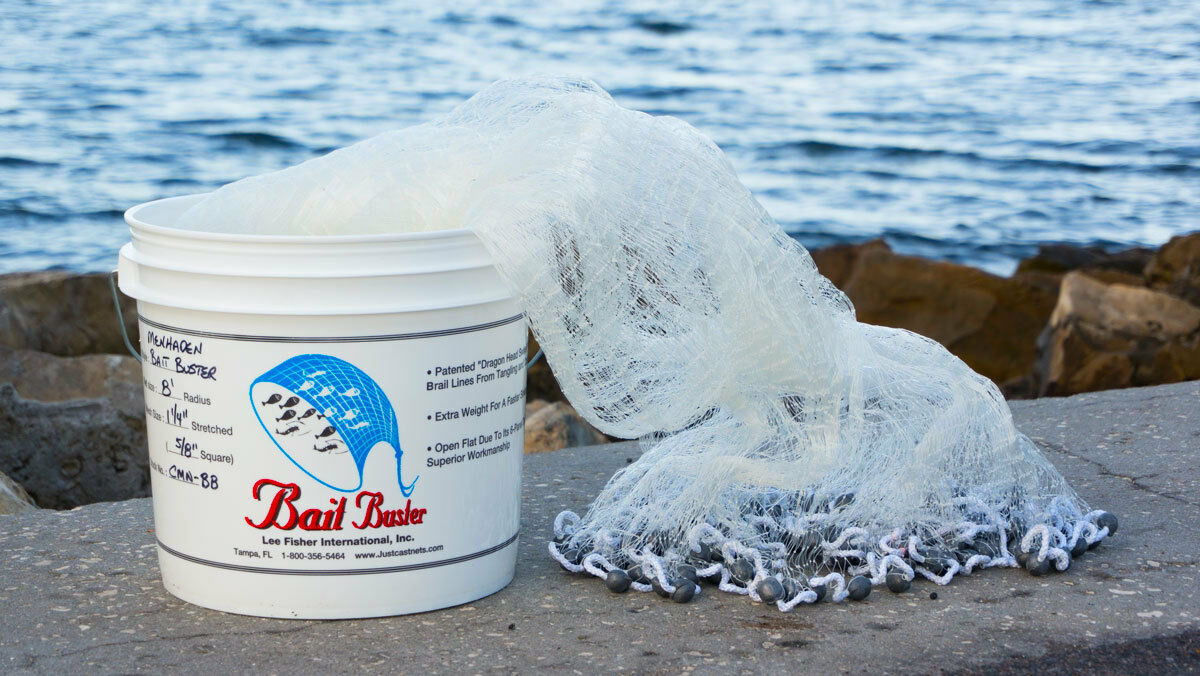 Bait Buster 7 ft. Radius 5  8  Sq. Mesh Bait Cast Net CMN-BB7 by Lee Fisher  for your style of play at the cheapest prices