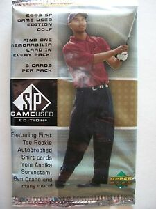 2003-UPPER-DECK-SP-GAME-USED-EDITION-GOLF-FACTORY-SEALED-PACK