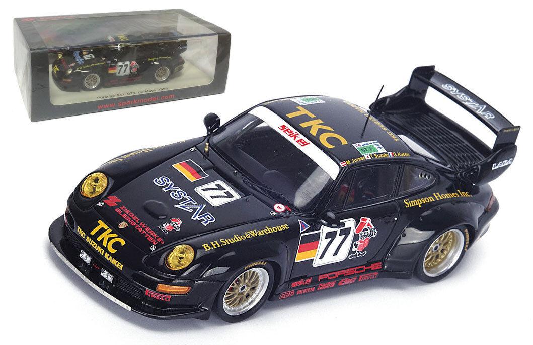 SPARK s4447 PORSCHE 911 gt2  77 'Seikel Motorsport  LE MANS SCALA 1996 -