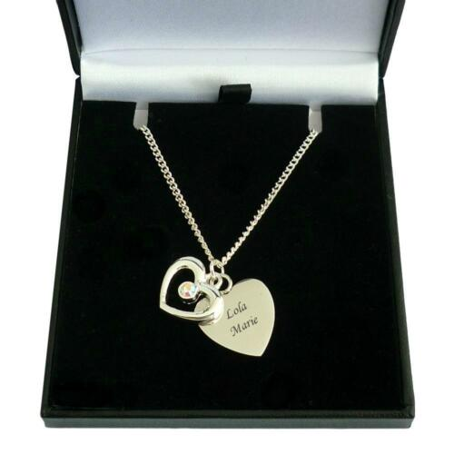 Personalised with Any Engraving For Woman or Girl Engraved Heart Necklace