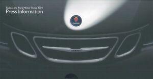 2004 SAAB PARIS MOTOR SHOW PRESSEMAPPE PRESSKIT PRESS INFORMATION  ENGLISCH + CD