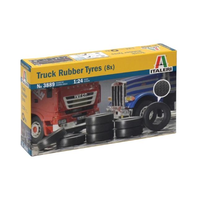 Italeri 3889 1/24 Tyres Truck Rubber (8) Plastic Model Kit Brand New