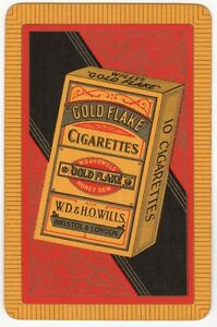 Playing-Cards-1-Single-Card-Old-GOLD-FLAKE-Cigarettes-Advertising-Art-Tobacco-3