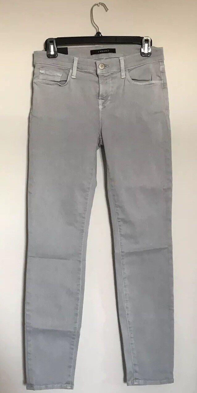 J Brand Skinny Crop Low Rise Jeans Photo Ready Light bluee Grey RARE Size 28 0758