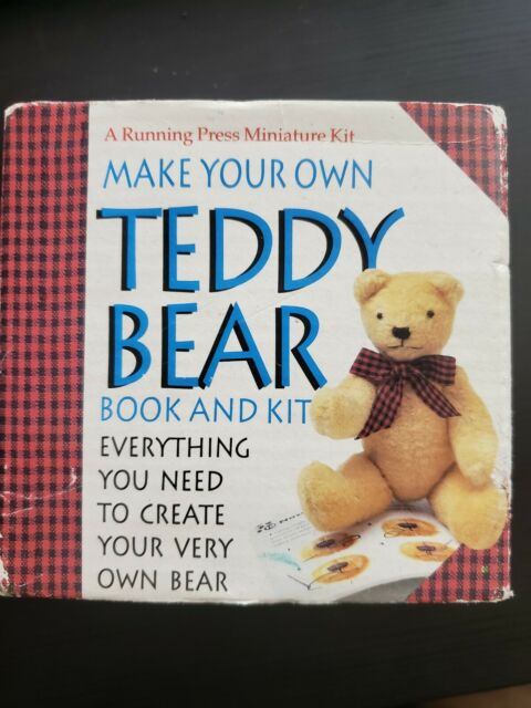 Vintage Make Your Own Teddy Bear Book And Kit - A Running Press Miniature Kit