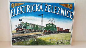 ETS-1-45-scale-O-ga-2-Rail-Tinplate-Electric-ELEKTRICKA-Railway-Set-NEU-amp-OVP