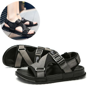 gladiator sandals men velcro shoes summer casual beach