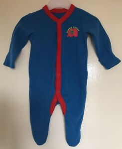 Baby Sleepsuit//Babygro  Rich Velour with embroidered Motif Age 0-3m Boys//Girls