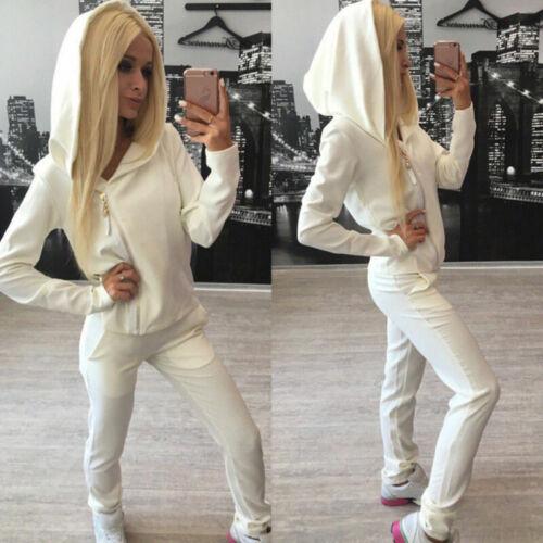 US Women 2pcs Tracksuit Hoodie Jogging Sweatshirt Pants Set Suit Sportswear Suit