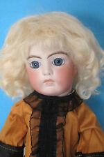 """perruque Mohair blond pale poupée ancienne-19/20.5cm-Mohair doll wig Sz7.5/8"""""""